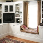 White Enamel Bookcase/TV System