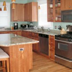 Cherry with Frame Flat Panel Doors Kitchen