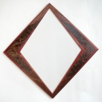 "African Padauk and Crotch Walnut Mirror 24"" x 24"" Available for Sale"