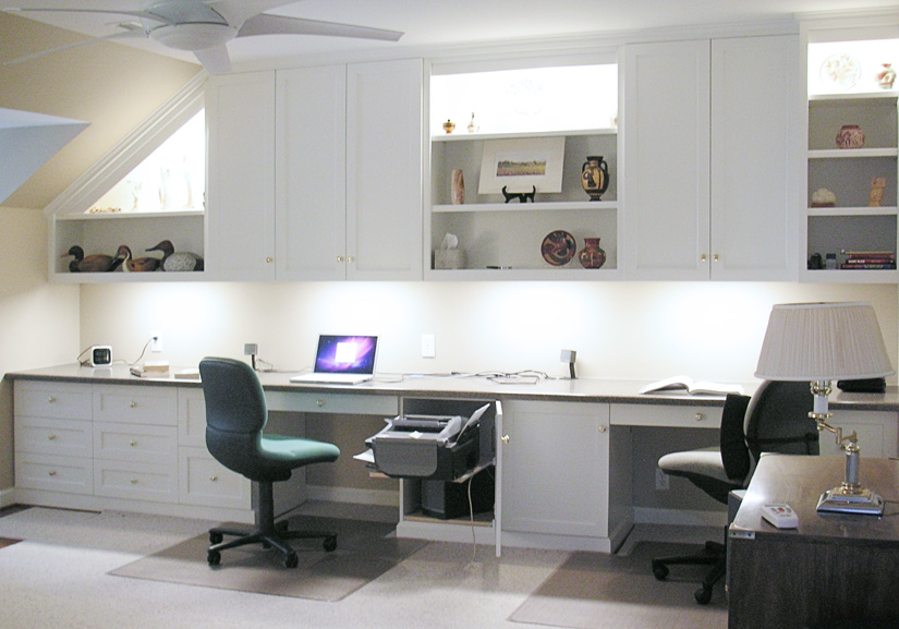 White Enamel Office Cabinetry