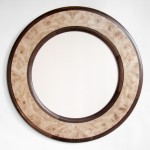 "Maple Burl and Walnut Mirror 30"" Available for Sale"