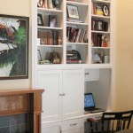 White Enamel Bookcase