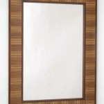 "Zebrawood and Walnut Mirror 24"" x 36"""