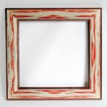 "Square Mirror Walnut and Ambrosia Box Elder 26"" x 26"""