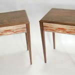 Walnut and Ambrosia Box Elder End Tables