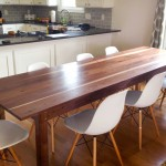Walnut with Exposed Sapwood 3' x 9' Dining Table