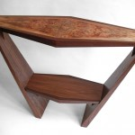 Hawaiian Mango Wood and Walnut Console