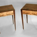 Walnut and Ambrosia Maple End Tables